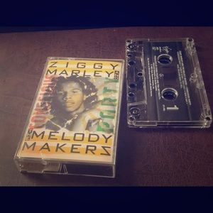 Cassette tape. ziggy Marley - the melody makerz